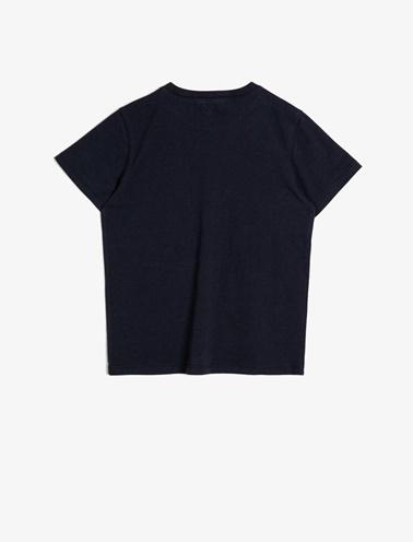 Koton Kids Yazili Baskili T-Shirt Lacivert